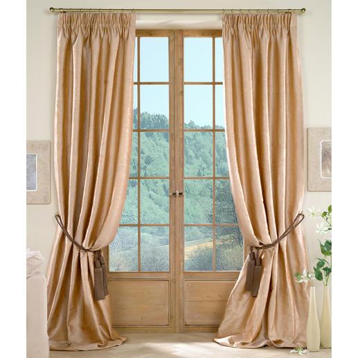Vorhang Villa Medici Relivo - 1 Stück Endlich ein Seidenvorhang, der ohne Futterstoff auskommt.