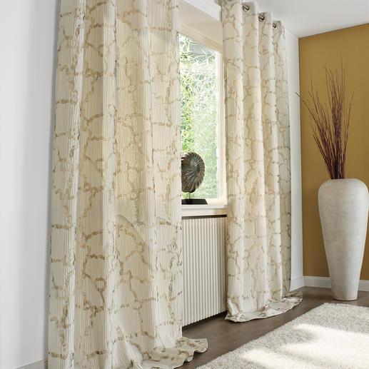 Vorhang Boulevard - 1 Stück Trend-Duo Creme & Gold: Modisches Makeover für Ihre Fenster.