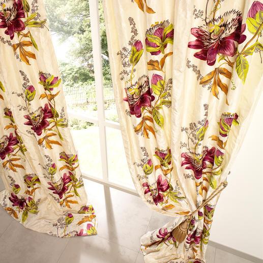 Vorhang Passion Flower - 1 Stück Unter den floral dessinierten Vorhängen ist dies einer der  exquisitesten.