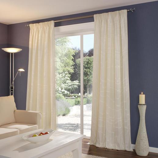 Vorhang Moirage - 1 Stück Selten geworden: Traditioneller Seidenmoiré.  Jetzt neu aufgelegt von Sahco.