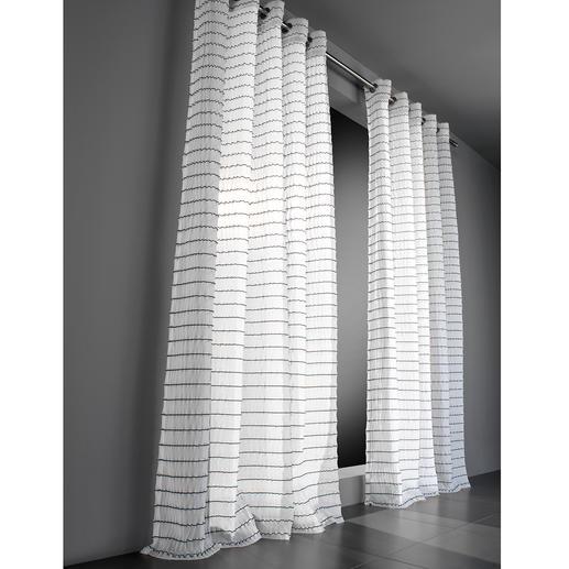 Vorhang Leander - 1 Stück Aufregend anders. Technisch höchst anspruchsvoll: Die außergewöhnliche Struktur dieses Inbetweens.