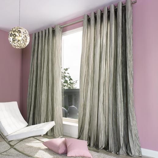 """Vorhang """"Brenda"""", 1 Vorhang - Die voluminöse Wirkung eines wattierten Matelassé-Gewebes.  Aber lichter, leichter, fließender."""