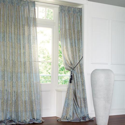 "Vorhang ""Chalet"", 1 Vorhang Vollflächig verwebtes Goldgarn sorgt für barocke Pracht."