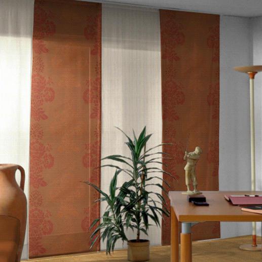 Flächenvorhang Milano - 1 Stück - Textiles Highlight aus Trevira CS. Brandschutzgesichert. Erfüllt den Standard der Feuerwehrauflagen.