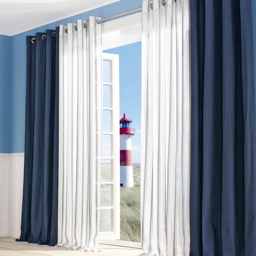 Vorhang Campo - 1 Stück - Nur die besten maritimen Dessins kann man auch fernab jeder Küste empfehlen.