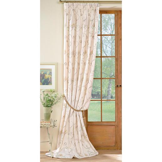 """Vorhang """"Avellino"""", 1 Vorhang Brillant changierender Taft mit eleganter Blüten-Stickerei."""
