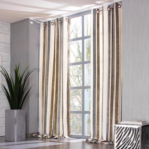 """Vorhang """"Lino"""", 1 Vorhang - Ruhiges Dessin. Zurückhaltende Farben. Aber überraschende Effekte."""