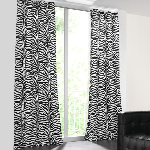 """Vorhang """"Zebra"""", 1 Vorhang - Nur die besten Wirkfelle sind fein genug für einen weich fallenden Vorhang."""