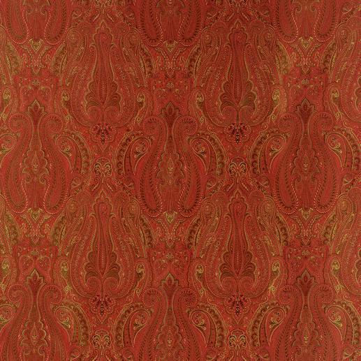 """Vorhang """"Honolulu"""", 1 Vorhang In den typischen Rot-Tönen ist das traditionelle Paisley-Dessin am schönsten."""