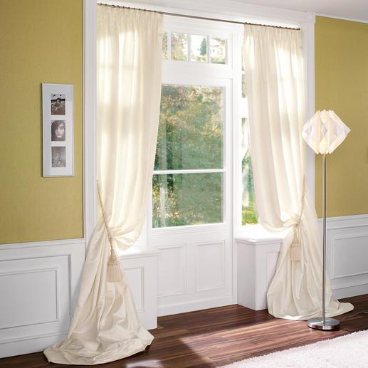 Vorhang Tanita - 1 Stück Ganz in Weiß – aber mit einer dritten Dimension.