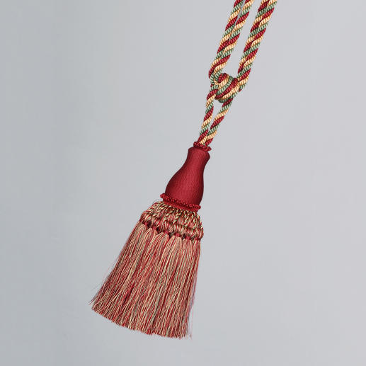 Raffhalter Fontainebleau - 1 Stück Noch traditionell als Posament von Hand gefertigt: der Raffhalter mit üppiger Quaste.