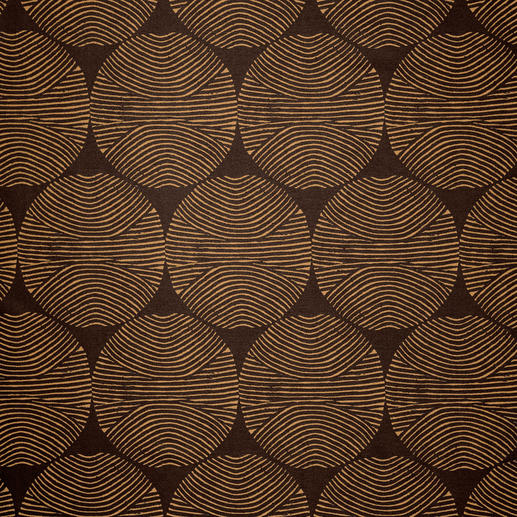 Vorhang Circle - 1 Stück Farbe: Kuper. Form: Grafisch. Stil: 70er. 3-facher Trend-Treffer 2016.