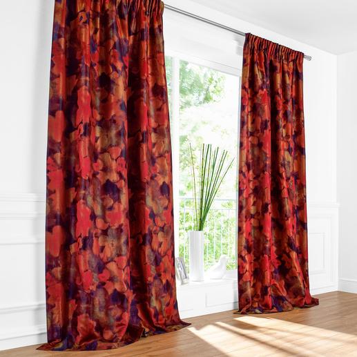 """Vorhang Magnolia - 1 Stück Sahco feiert die """"Rückkehr der Farben"""" mit einem wahren Feuerwerk."""