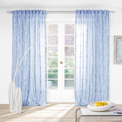 """Vorhang """"Moire"""", 1 Vorhang - Ein Doppelgewebe mit seltener Transparenz und faszinierendem Moiré-Effekt."""
