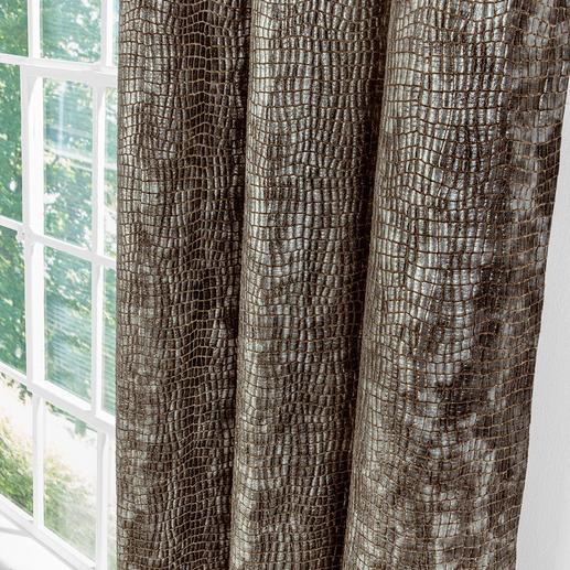 """Vorhang """"Crocodile"""", 1 Vorhang Wildlife für modernes Wohnambiente: Kroko-Prägung – täuschend echt und mit 3D-Effekt."""