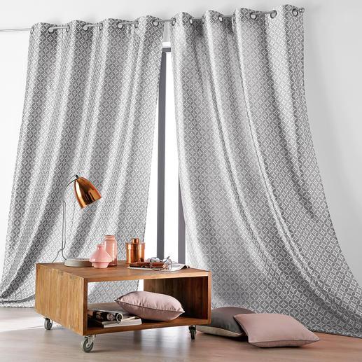 Vorhang Faience - 1 Stück Der Signature-Look luxuriöser Designermarken – jetzt als stilvolle Fensterdekoration.