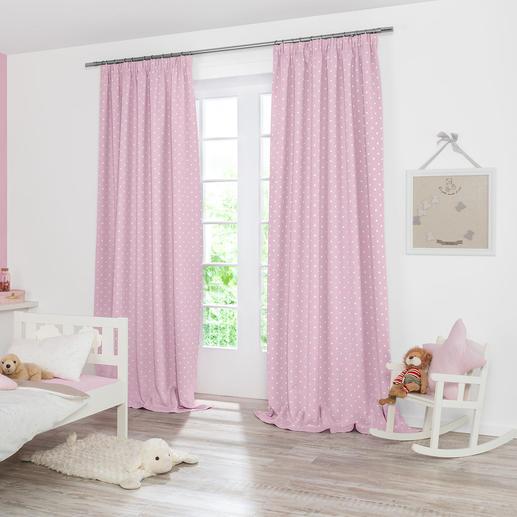 Vorhang Pünktchen - 1 Stück Der perfekte Verdunkelungsvorhang fürs Babyzimmer.