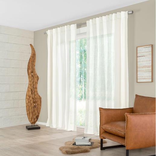 Vorhang Stripe - 1 Stück Evergreen Streifen – aber Struktur pur, ohne Farbe oder Glanzeffekt.