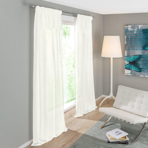 Vorhang Arca - 1 Stück Reines Leinen – selten fein, außergewöhnlich lichtdurchlässig und preisattraktiv.