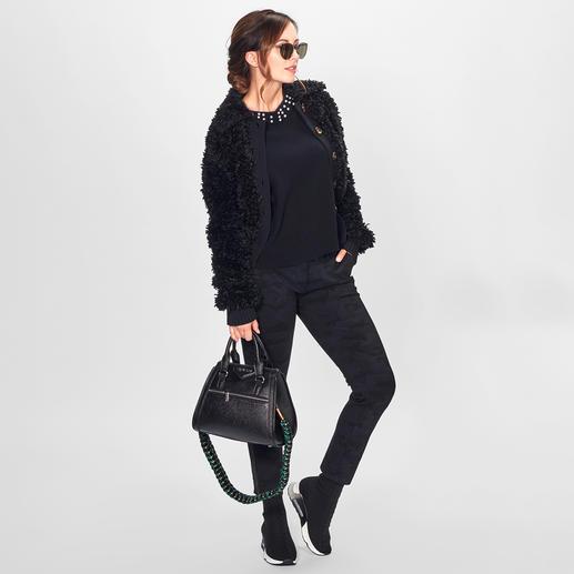 FTC SeaCell®Cashmere-Perlen-Pullover Die richtigen Fashion-Signale für Herbst/Winter 2018: Perlen-Dekoration. Statement-Ärmel. Verkürzte Kastenform.