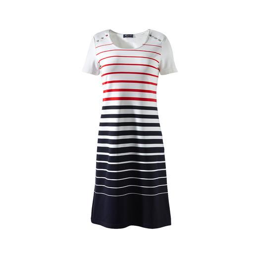Das Bretagne-Kleid 2.0 von Saint James: Eleganter, unkomplizierter und strapazierfähiger. Das Bretagne-Kleid 2.0 von Saint James: Eleganter, unkomplizierter und strapazierfähiger.