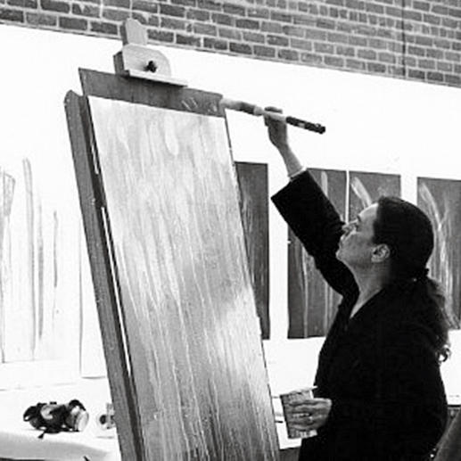 Pat Steir in ihrem Atelier.