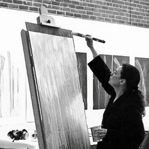 Pat Steir in ihrem Atelier.