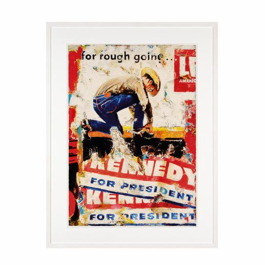 """""""Kennedy"""", gerahmt 73 x 96 cm."""