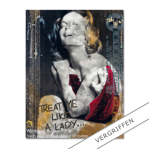 """Devin Miles – Like a Lady - Devin Miles: Der Shootingstar der deutschen """"Modern Pop-Art"""". Unikatserie aus Malerei, Siebdruck und Airbrush auf gebürstetem Aluminium. 100 % Handarbeit."""