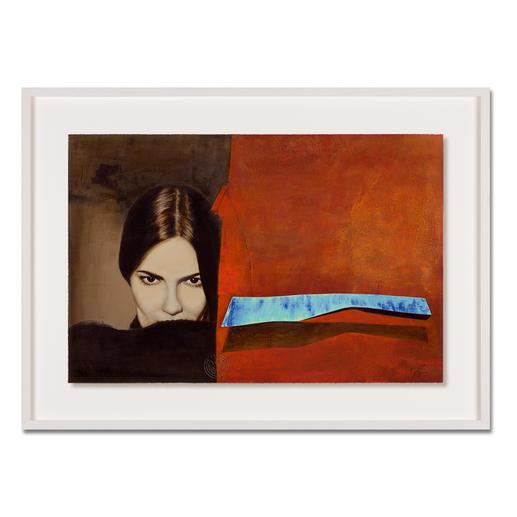 Jaro – Schatten der Verführung - Jaro editiert erstmals sein Lieblingswerk.  Das Signet des Künstlers geprägt und handschraffiert. Niedrig limitiert – in zwei Größen erhältlich. Maße: gerahmt 100 x 73 cm