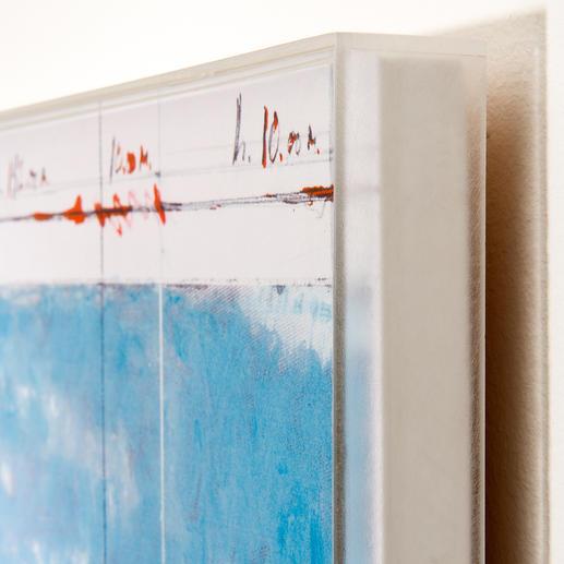 Christos Werk geschützt hinter Acrylglas.