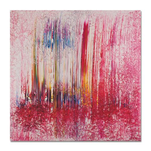 """Bengalisches Feuer"", 100 x 100 cm."