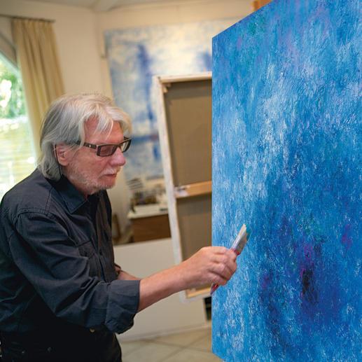 Benno Werth in seinem Atelier.