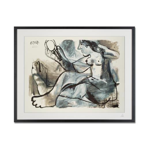 """Pablo Picasso – Akt im Spiegel (1967) - Pablo Picasso """"Akt im Spiegel"""" (1967) als High-End Prints™. Endlich eine Qualität, die dem großen Meisterwerk tatsächlich gerecht wird."""