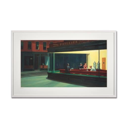 """Edward Hopper: """"Nighthawks"""" (1941) - Edward Hopper """"Nighthawks"""" (1941) als High-End Prints™. Endlich eine Qualität, die dem großen Meisterwerk tatsächlich gerecht wird."""