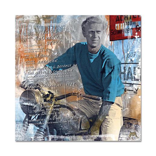"""American Hero"", 70 x 70 x 0,3 cm."