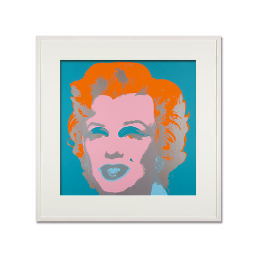 Andy Warhol – Marilyn hellblau - Sunday B. Morning Siebdruck auf 1,52 mm starkem Museumskarton.