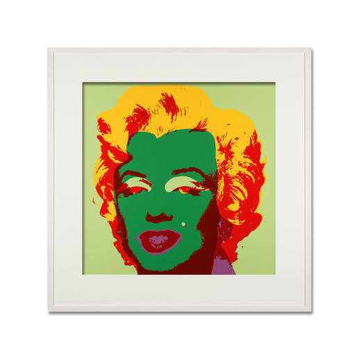 Andy Warhol – Marilyn hellgrün - Sunday B. Morning Siebdruck auf 1,52 mm starkem Museumskarton. Maße: gerahmt 112 x 112 cm
