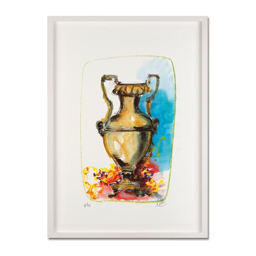 Markus Lüpertz – Vase 1 - Keine Lüpertz-Edition ist wie diese. Einer seiner seltenen farbenfrohen Siebdrucke. Gering limitiert mit 40 Exemplaren.
