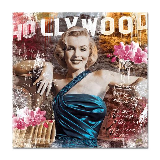 """Devin Miles – As Rose II - Devin Miles: Der Shootingstar der deutschen """"Modern Pop-Art"""". Unikatserie aus Malerei, Siebdruck und Airbrush auf gebürstetem Aluminium. 100 % Handarbeit."""