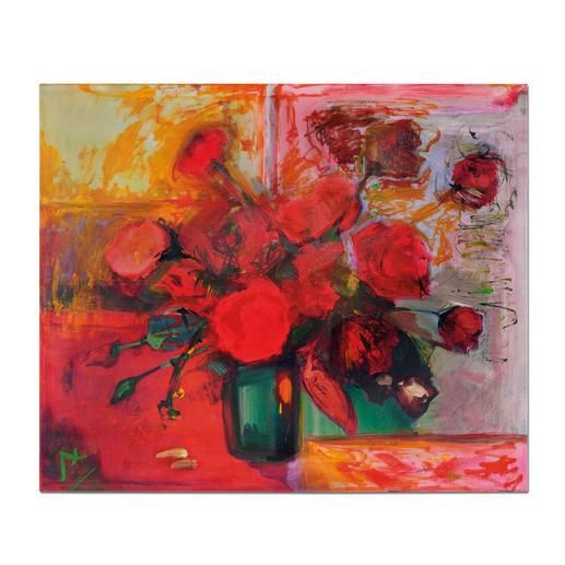 Axel Kentsch – Rosas de Mallorca - Axel Kentschs erste Edition – handübermalt. Exklusiv bei Pro-Idee. 33 Exemplare. Maße: 116 x 96 cm