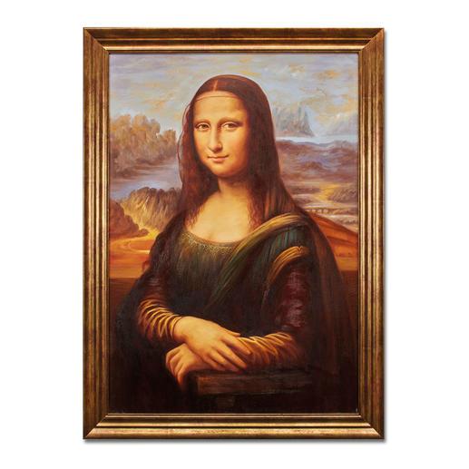 Hui Liu malt Leonardo da Vinci – Mona Lisa Die perfekte Kunstkopie – 100 % von Hand in Öl gemalt. Maße: gerahmt 65 x 89 cm