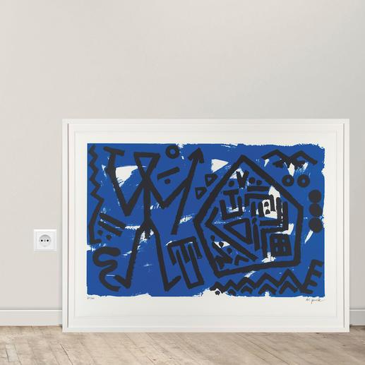 A. R. Penck – Pentagon blau