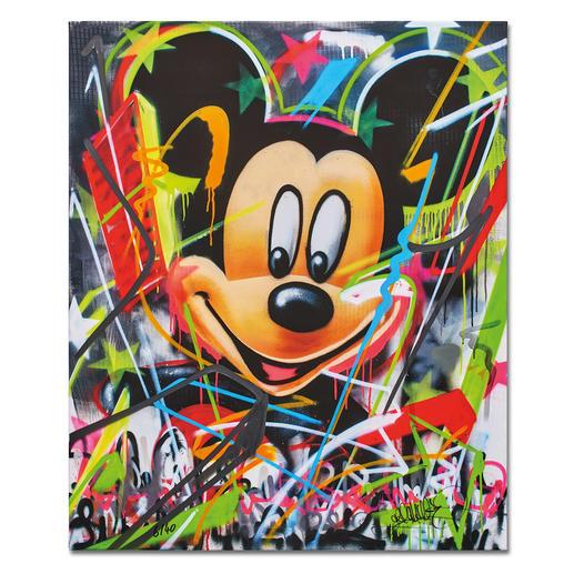 René Turrek – Mickey's World René Turrek: Weltpremiere – exklusiv bei Pro-Idee. Erste Unikatediton des international gefeierten Graffiti-Künstlers. Handübersprüht. Maße: 100 x 120 cm