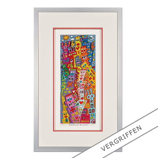 James Rizzi – Borderless Buildings - 3D-Papierskulpturen des verstorbenen James Rizzi. 50 Exemplare.