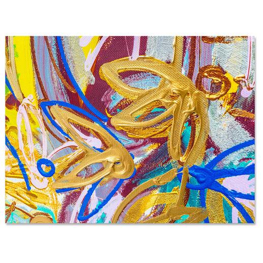Jedes Werk wird nach dem Druck vom Künstler in einigen Bereichen übermalt.