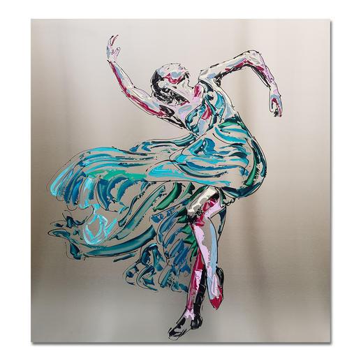 Paul La Poutré – Anastasia - Paul La Poutré: Zweite Unikatserie – 100 % von Hand auf Edelstahl gemalt. (Die erste war nach wenigen Tagen ausverkauft.). 12 Exemplare. Exklusiv bei Pro-Idee. Maße: 100 x 100 cm