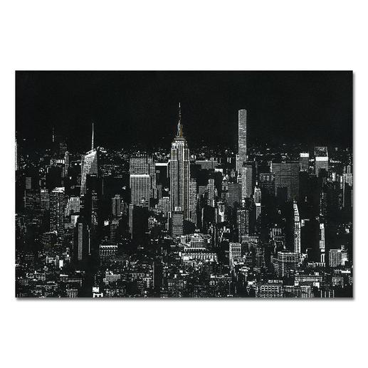 """Tim Bengel – Original New York Skyline - Tim Bengel erobert die Kunstwelt. Jetzt bei Pro-Idee: Sein einzigartiges Originalwerk """"New York Skyline"""" aus Sand und Gold."""