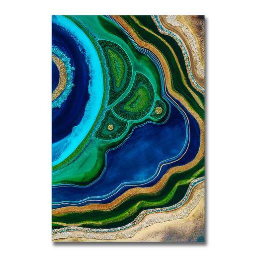 Mrs. Colorberrys – Malachite Dreams Erste Edition von Mrs. Colorberrys unverwechselbaren Werken. 20 Exemplare. Exklusiv bei Pro-Idee. Maße: 80 x 120 cm