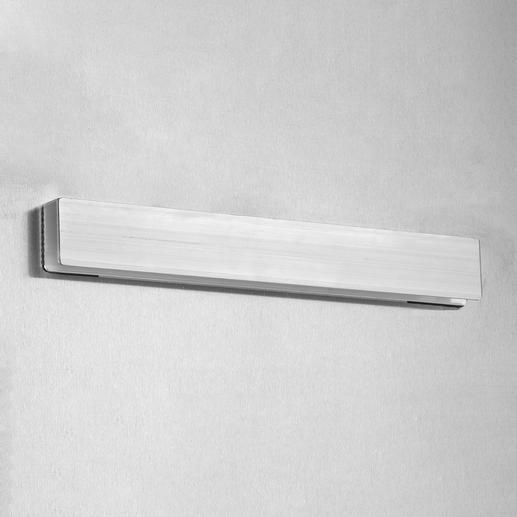 Eine stabile Aluminiumleiste auf der Rückseite ermöglicht eine sichere und mühelose Aufhängung.